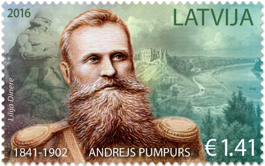 andrejs_pumpurs_2016_stamp_of_latvia