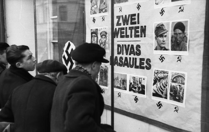 Lettland, deutsche Propagandatafel